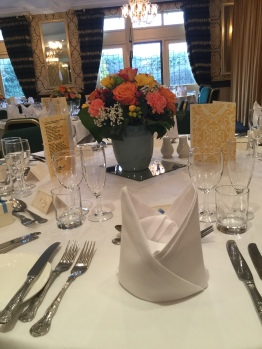 table decorations at party at cricklade house