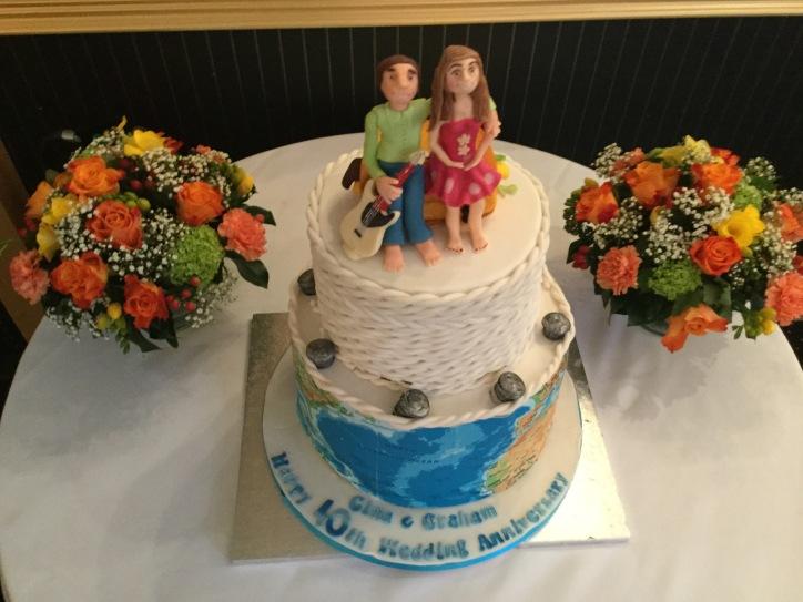 40th wedding anniversary cake