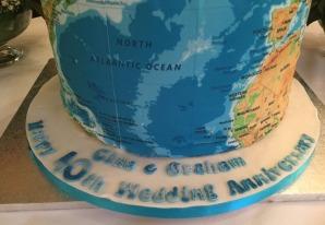 gina and graham anniversary cake, cake of the world, happy 40th Wedding anniversary