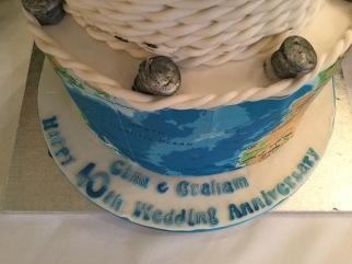 happy 40th wedding anniversary, cake
