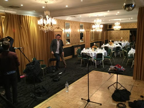 Setting up at Cricklade House hotel party