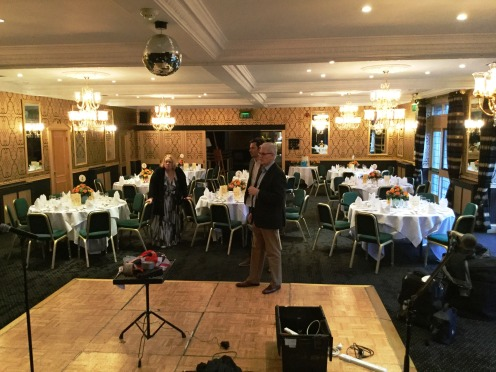 Setting up the band at Cricklade House Hotel