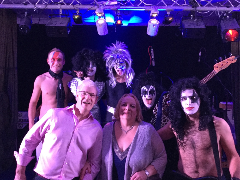 70s glam rock band, glam rock band, glam band, 70s tribute band in WIltshire, 70s tribute band in SOuth West, Transvestite band, band for 40th wedding, band for 40th, kiss tribute band, bowie tribute, kiss costumes, band in make up,