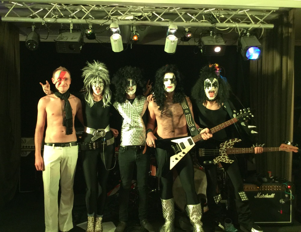 70s glam rock band, glam rock band, glam band, 70s tribute band in WIltshire, 70s tribute band in SOuth West, Transvestite band, band for 40th wedding, band for 40th, kiss tribute band, bowie tribute