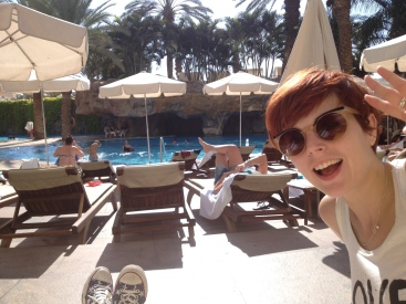 by the pool in eilat